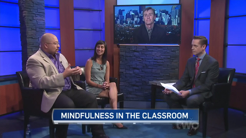 Screen Capture of TV Interview on Mindfulness