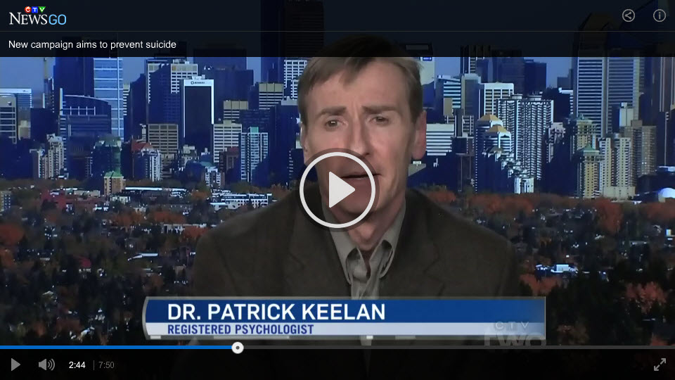 Screen capture from TV interview on the Keep him here campaign