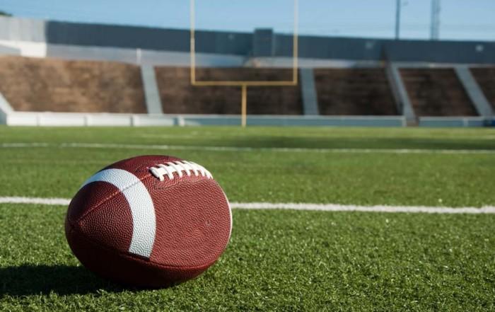 Football on field.