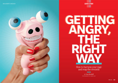 """Image of Reader's Digest print article """"Getting Angry, The Right Way"""""""